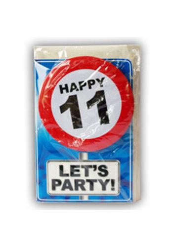 Happy Age Kaart - 11 Jaar