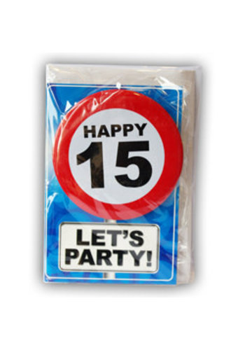 Happy Age Kaart - 15 Jaar