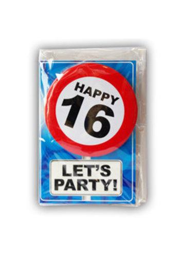 Happy Age Kaart - 16 Jaar