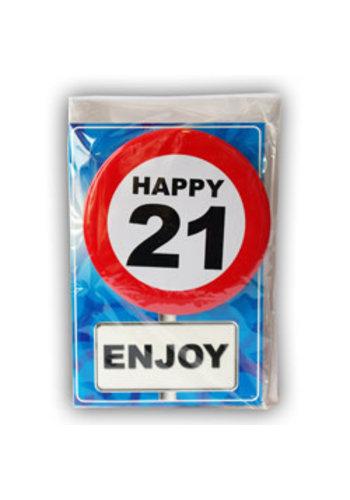 Happy Age Kaart - 21 Jaar