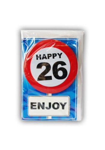 Happy Age Kaart - 26 Jaar