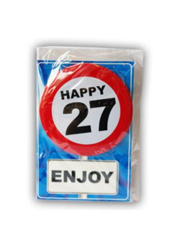 Happy Age Kaart - 27 Jaar