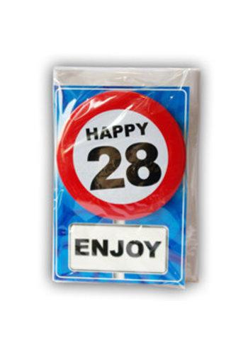 Happy Age Kaart - 28 Jaar