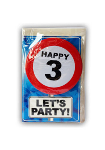 Happy Age Kaart - 3 Jaar