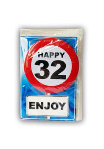 Happy Age Kaart - 32 Jaar