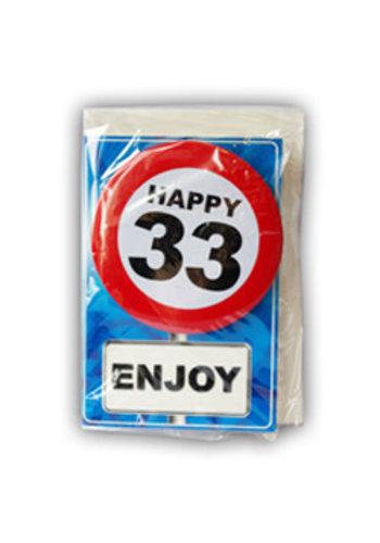 Happy Age Kaart - 33 Jaar