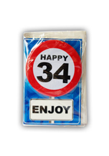 Happy Age Kaart - 34 Jaar