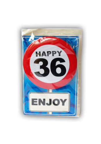 Happy Age Kaart - 36 Jaar