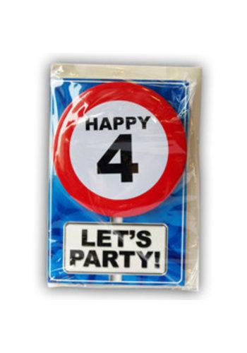 Happy Age Kaart - 4 Jaar