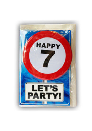 Happy Age Kaart - 7 Jaar