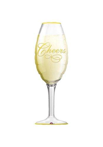 Folieballon Champagne Glas - 35x91cm