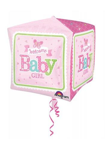 Cubez Welcome Baby Girl - 38x38cm