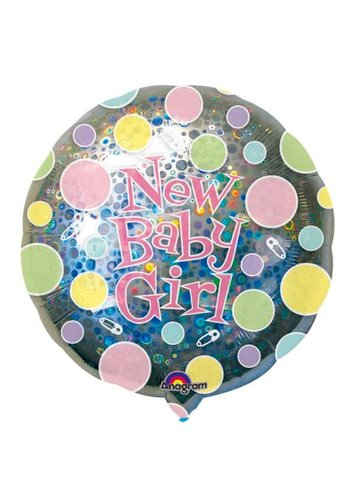 Folieballon New Baby Girl - 71cm