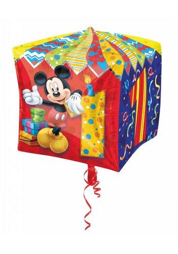 Cubez Mickey 1 Jaar - 38cm