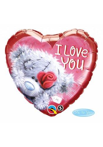 Folieballon I Love You Teddy - 45cm