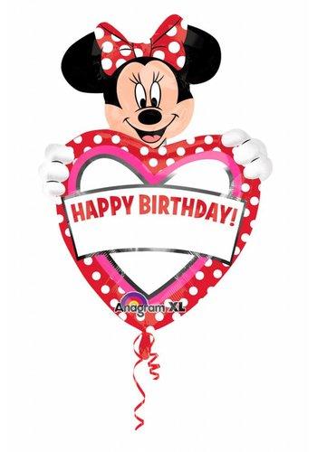 Folieballon Minnie Personalize - 60x83cm
