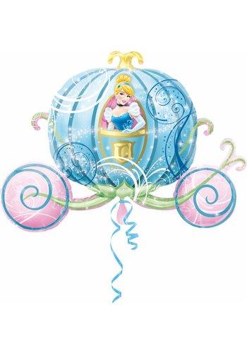 Folieballon Koets Princess - 83x58cm