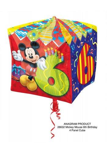 Cubez Mickey 6 Jaar - 38x38cm