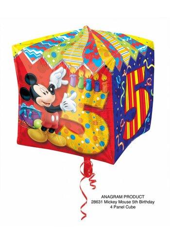 Cubez Mickey 5 Jaar - 38x38cm
