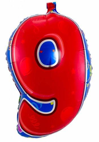 Folieballon 9 Jaar - 56cm