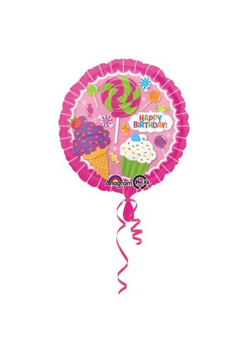 Folieballon Happy Birthday Sweets - 45cm