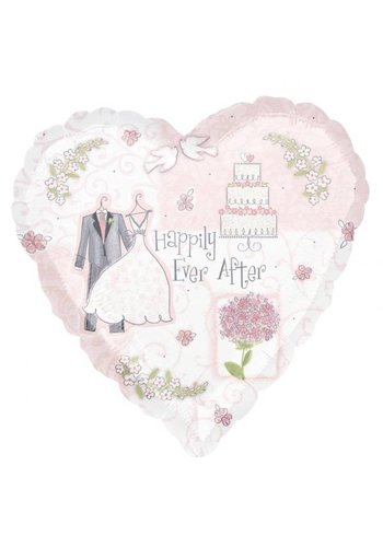 Folieballon Happily Ever After - 45cm