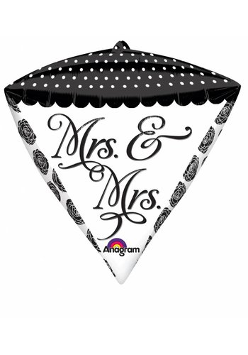 Diamondz Mrs & Mrs - 38x43cm