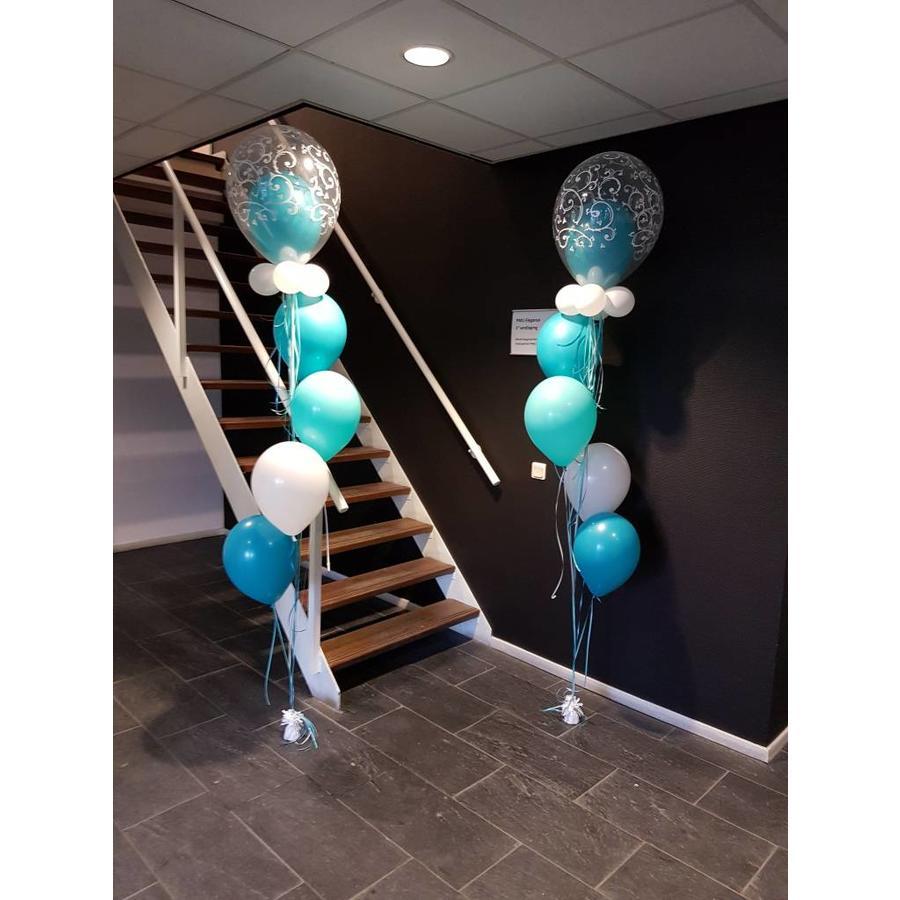 Staander met dubbele topballon-4