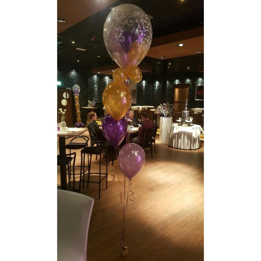 Staander met dubbele topballon-6