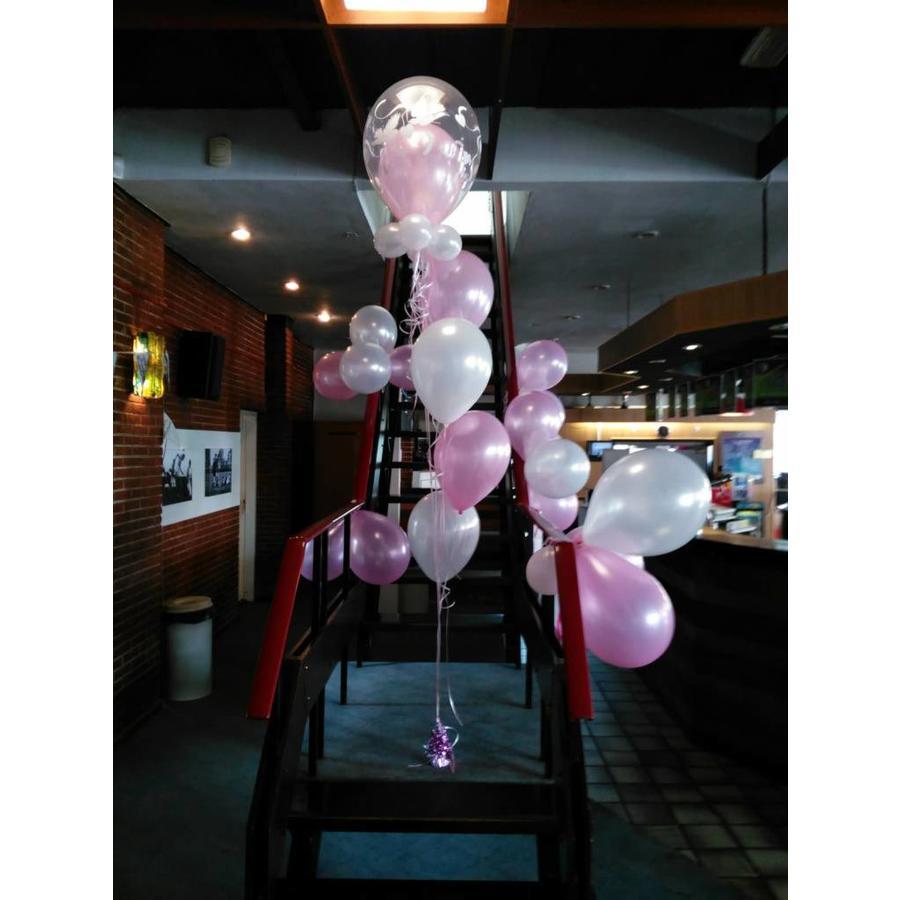 Staander met dubbele topballon-8