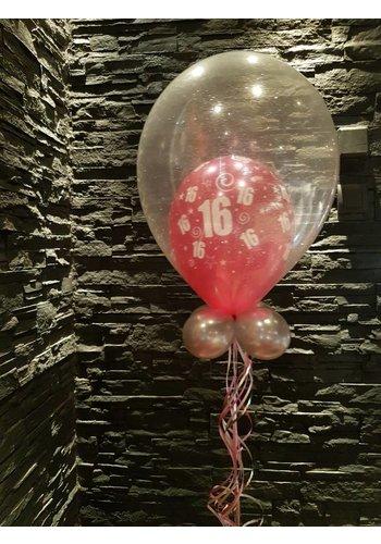 Cadeau Ballon met Glitter