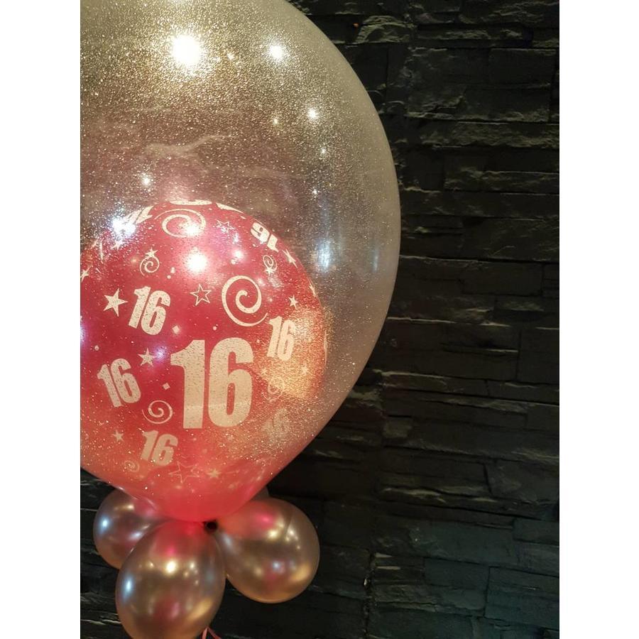 Cadeau Ballon met Glitter-2