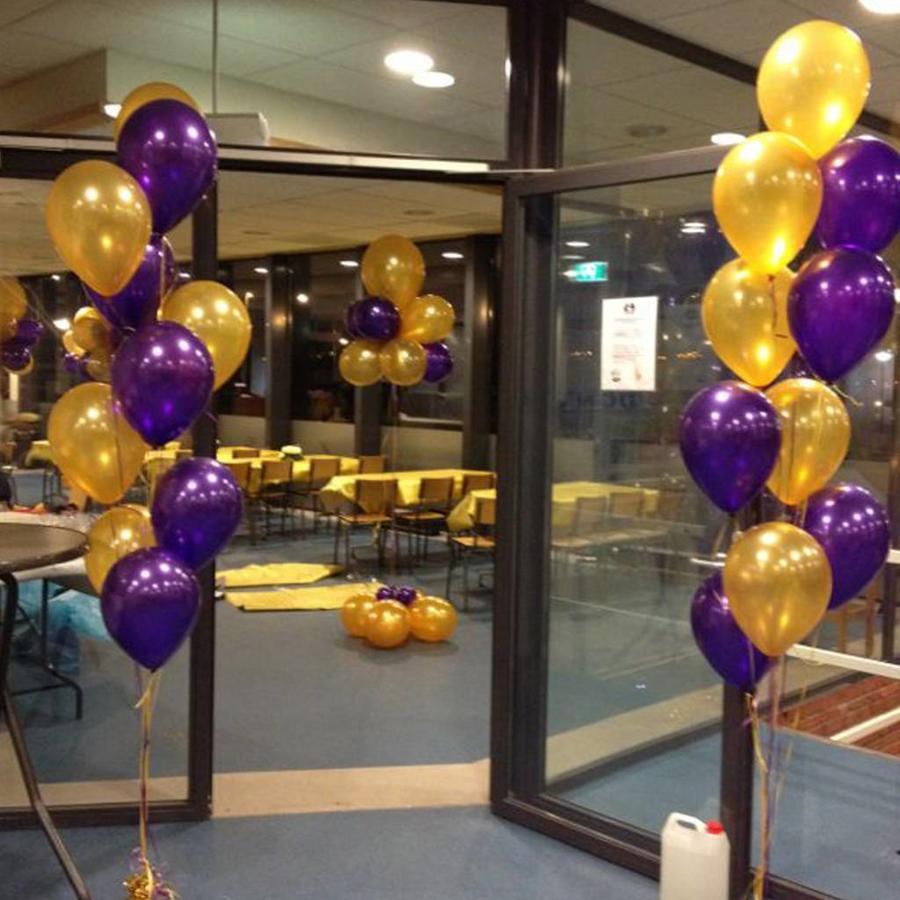 Staander van 10 heliumballonnen-7