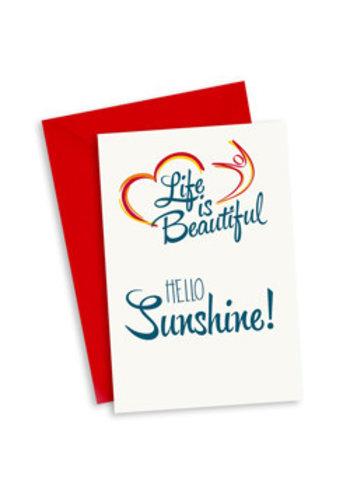Life is Beautiful Kaart - Hello Sunshine!
