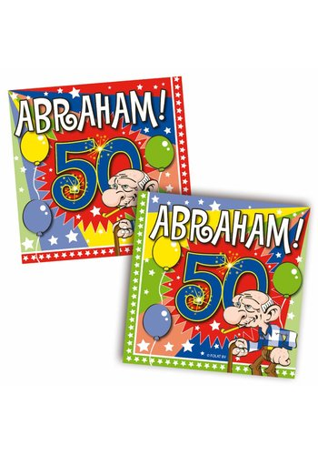 Abraham servetten 25x25cm - 20 stuks