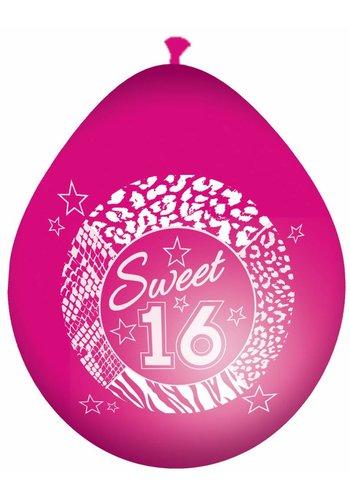 Sweet 16 Ballonnen - 8 stuks