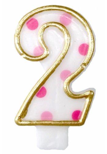 Cijferkaarsje 2 Roze