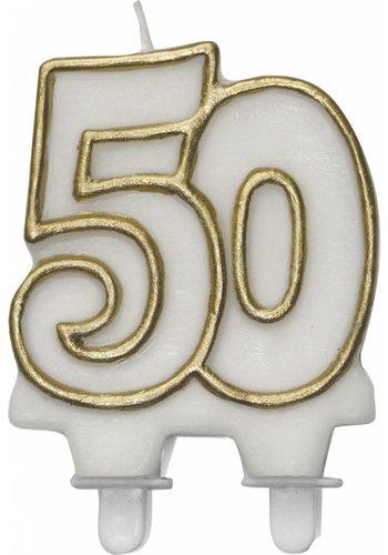 Cijferkaarsje 50 Goud