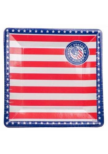 USA Bordjes - 25cm -  8 stuks
