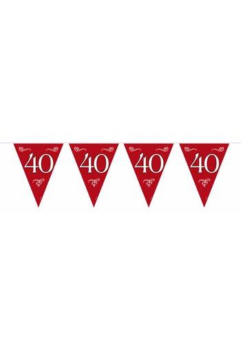 Vlaggenlijn 40 jaar getrouwd - 10 meter