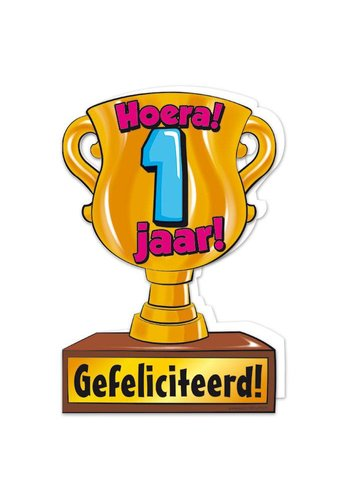 Wenskaart Trofee - 1 Jaar