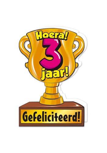 Wenskaart Trofee - 3 Jaar