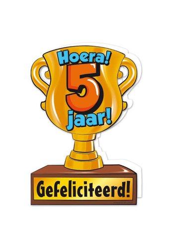 Wenskaart Trofee - 5 Jaar