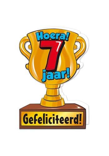 Wenskaart Trofee - 7 Jaar