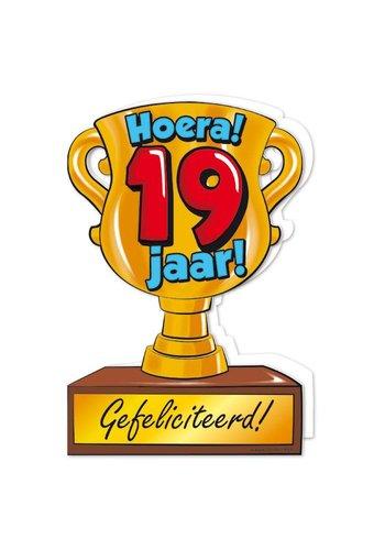 Wenskaart Trofee - 19 Jaar