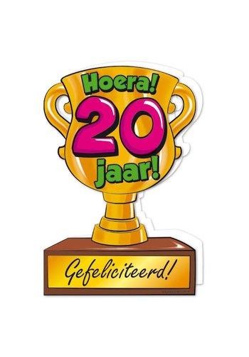 Wenskaart Trofee - 20 Jaar