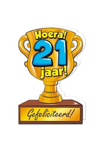 Wenskaart Trofee - 21 Jaar
