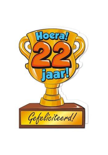 Wenskaart Trofee - 22 Jaar