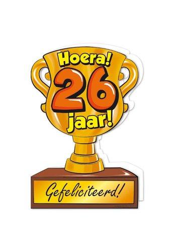 Wenskaart Trofee - 26 Jaar