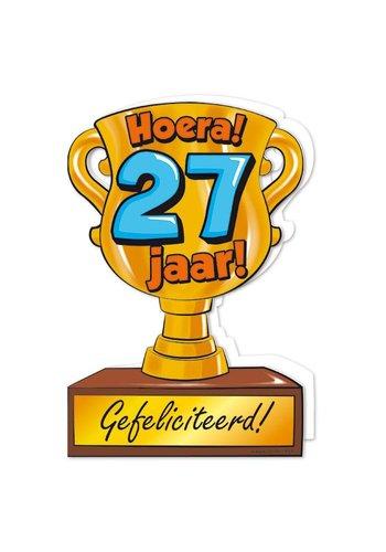 Wenskaart Trofee - 27 Jaar